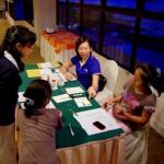 Iris & Susan ensuring registration runs smoothly